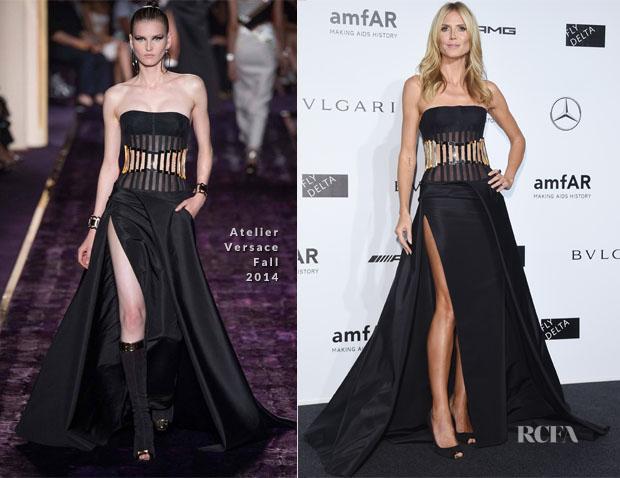 Heidi Klum In Atelier Versace - amfAR Milano 2014 Gala