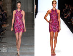 Heidi Klum In Julien Macdonald - Project Runway 2014 Final