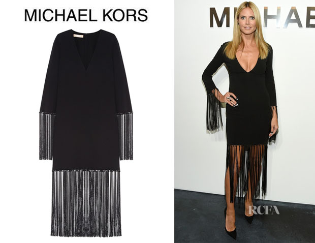 Heidi Klum's Michael Kors Fringed Dress