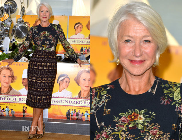 Helen Mirren In Dolce & Gabbana - 'The Hundred Foot Journey' London Photocall