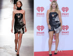 Hilary Duff In Anthony Vaccarello - iHeart Radio Music Festival