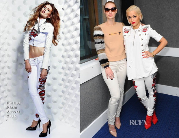 Iggy Azalea In Opening Ceremony & Rita Ora In Philipp Plein - KISS FM