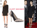 Jaimie Alexander's IRO 'Gaia' Dress And Kurt Geiger 'Brent' Pumps