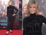 Jane Fonda In Atelier Versace - 'This Is Where I Leave You' LA Premiere