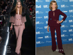 Jane Fonda In Elie Saab - 'This Is Where I Leave You' Toronto International Film Festival Press Conference