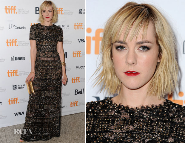 Jena Malone In Emilio Pucci - 'Time Out of Mind'  Toronto Film Festival Premiere