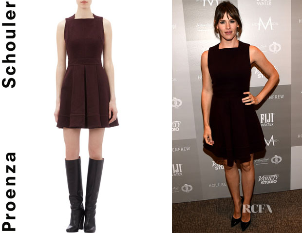 Jennifer Garner's Proenza Schouler Sleeveless Pleated Skirt Dress