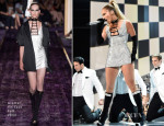 Jennifer Lopez In Atelier Versace - Fashion Rocks 2014 Performance