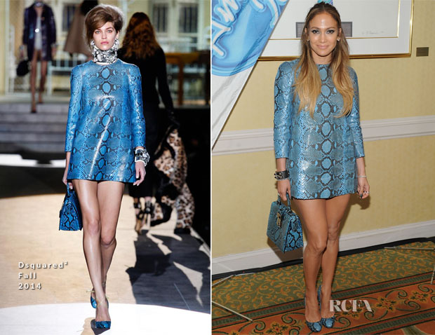 Jennifer Lopez In Dsquared² - 'American Idol' XIV Photocall