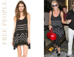 Jenny McCarthy's Free People Voile And Lace Trapeze Tank