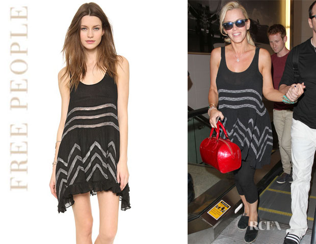Jenny McCarthy's Free People Voile AndLace Trapeze Tank