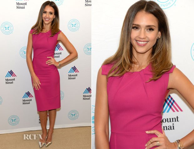 Jessica Alba In Roland Mouret - The Honest Company Ultra Clean Room Unveiled at The Mount Sinai Hospital