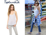 Jessica Alba's Splendid 'Glen Valley' Stripe Tank