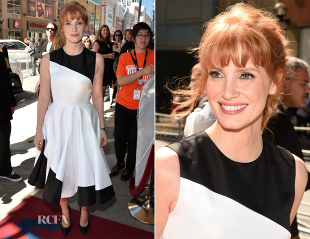 Jessica Chastain In Christian Dior - 'Miss Julie' Toronto Film Premiere