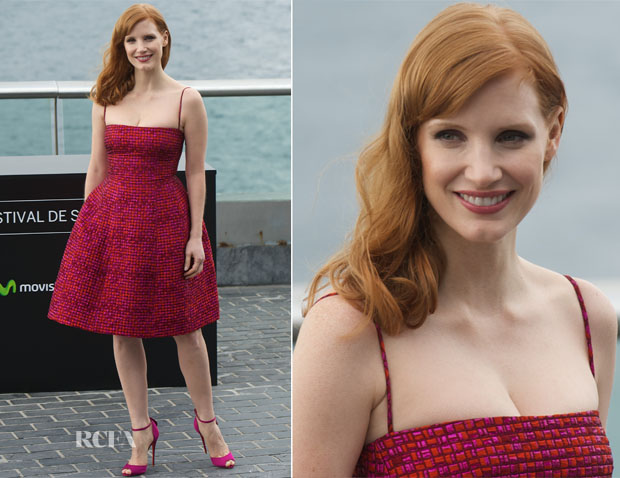 Jessica Chastain In Dsquared²  - 'The Disappearance of Eleanor Rigby' San Sebastian Film Festival Photocall