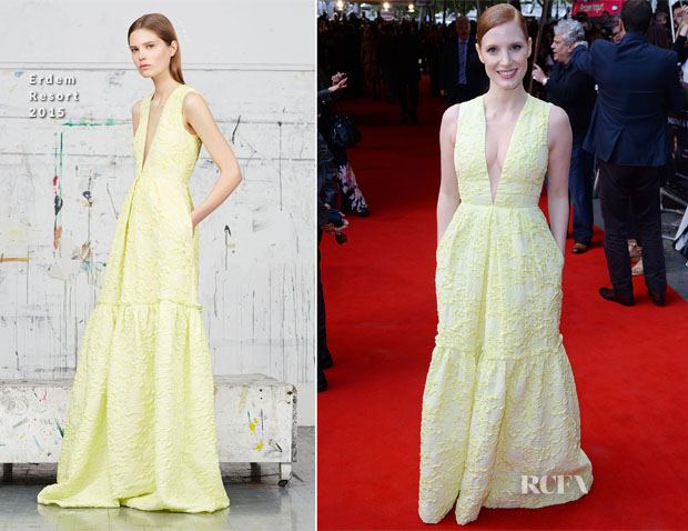 Jessica Chastain In Erdem - 'Salome and Wilde Salome' London Screening