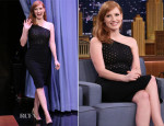 Jessica Chastain In Roland Mouret - The Tonight Show Starring Jimmy Fallon