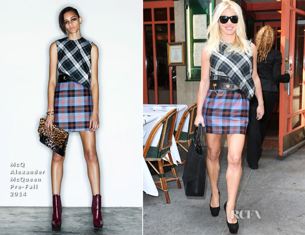 Jessica Simpson In McQ Alexander McQueen - Out In New York City