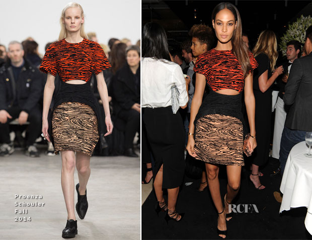 Joan Smalls In Proenza Schouler - Jennifer Fisher New York City Flagship Store Opening