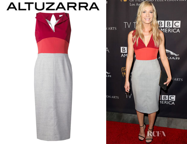 Joanne Froggatt's Altuzarra Stretch Colourblock Dress