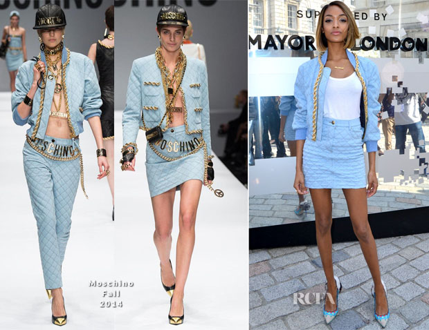 Jourdan Dunn In Moschino - London Fashion Week Day 1