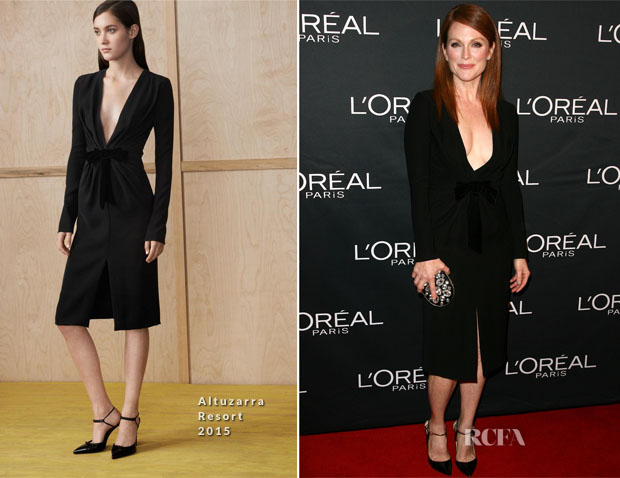 Julianne Moore In Altuzarra - L'Oreal And Juliane Moore Prepare For 'Still Alice' Premiere