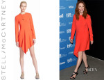 Julianne Moore's Stella McCartney Drape Detail Stretch Cady Dress