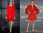 Karolina Kurkova In Armani Privé - Vogue Italia's 50th Anniversary Event