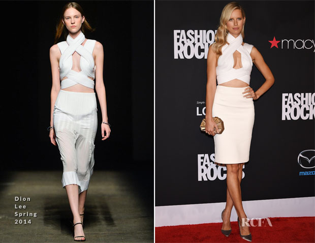 Karolina Kurkova In Dion Lee - Fashion Rocks 2014