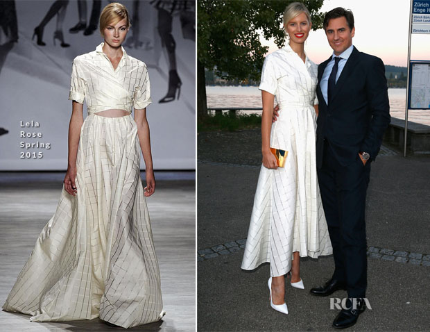 Karolina Kurkova In Lela Rose - Women of Impact Reception - Zurich Film Festival 2014