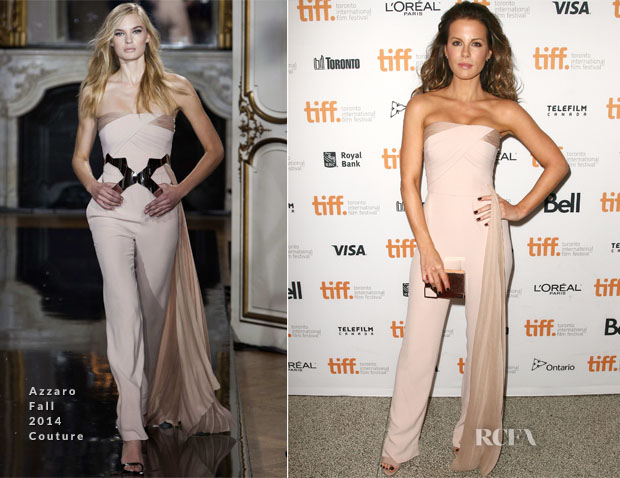 Kate Beckinsale In Azzaro Couture - 'The Face Of An Angel' Toronto Film Festival Premiere