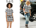 Kate Mara's Sea Collared Crop Top