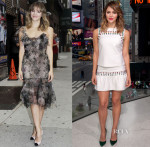 Katharine McPhee In Marchesa & Cynthia Rowley - Late Show with David Letterman & Extra