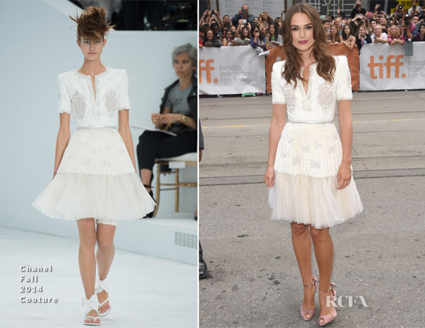 Keira Knightley In Chanel Fall 2014 Couture - 'The Imitation Game' Toronto Film Festival Premiere
