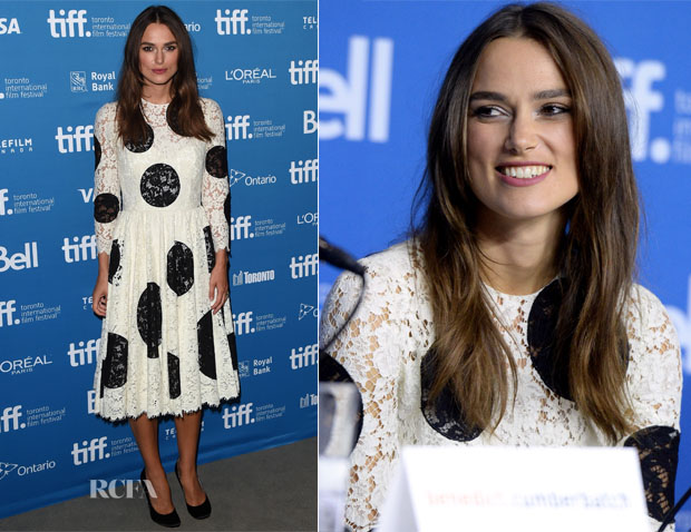 Keira Knightley In Dolce & Gabbana - 'The Imitation Game'  Toronto Film Festival Press Conference