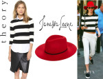 Kendall Jenner's Theory 'Harmona S' Sweater And Janessa Leone 'Savoy' Hat