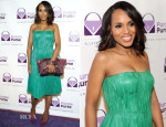 Kerry Washington In Alexander McQueen - 2014 Allstate Foundation Purple Purse Program