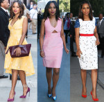 Kerry Washington In Giles, Stella McCartney & Preen - 'Scandal' New York Promo Tour