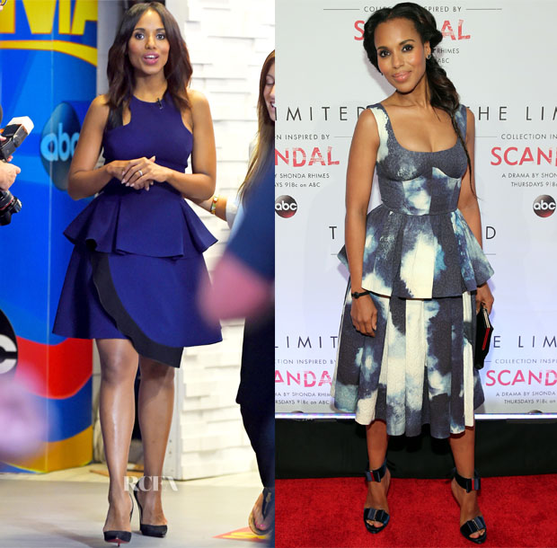 Kerry Washington In Prabal Gurung & Giles - Good Morning America & The Limited 'Scandal' Collection Launch Event