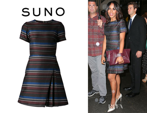 Kerry Washington's Suno Paneled Skirt Striped Dress