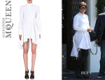 Kris Jenner's Alexander McQueen Cotton Fishtail Shirtdress