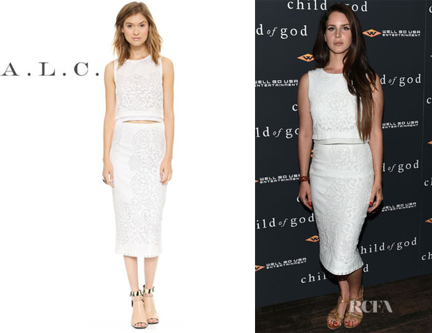 Lana Del Rey's A.L.C. 'Maxwell' Top And A.L.C. 'Lucas' Skirt