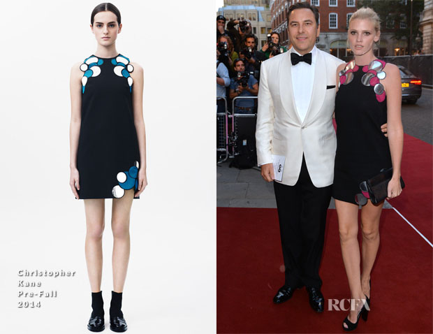 Lara Stone In Christopher Kane - 2014 GQ Men of the Year Awards