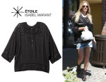 LeAnn Rimes' Étoile Isabel Marant 'Ethan' Embroidered Blouse