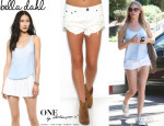 LeAnn Rimes' Bella Dahl Scoop Neck Tank And One Teaspoon 'Bandits' Shorts