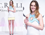Leighton Meester In Emilio Pucci - St Rillian Fragrance Launch Press Conference