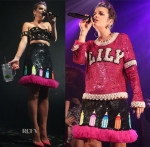 Lily Allen In Ashish & House of Holland - Terminal 5