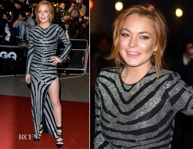 Lindsay Lohan In Balmain - 2014 GQ Men of the Year Awards