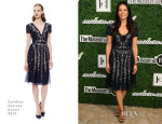 Lucy Liu In Carolina Herrera - 2014 Couture Council Award Luncheon