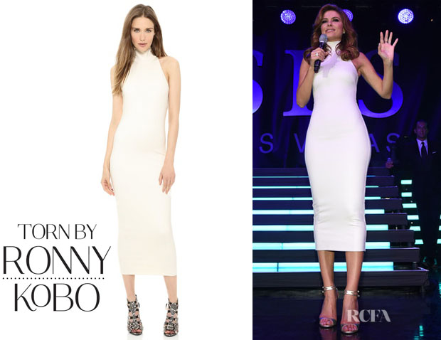 Maria Menounos' Torn by Ronny Kobo 'Thiadora Ponte' Dress